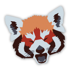 red panda graphic