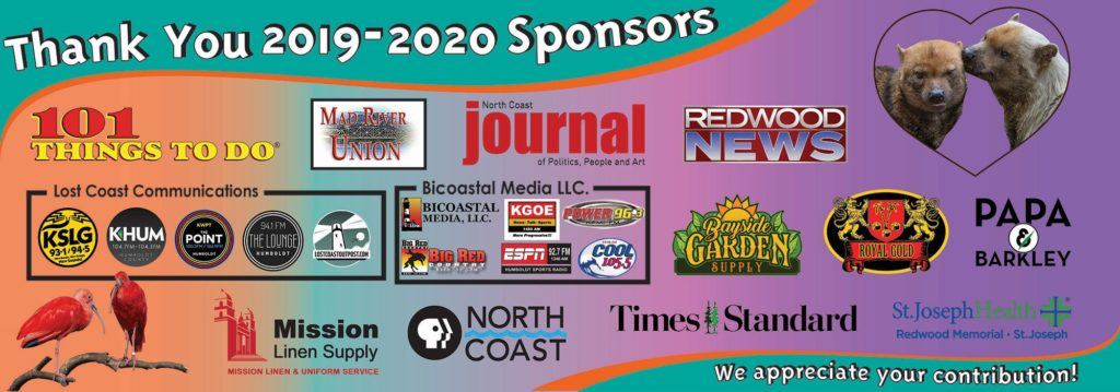 sponsors of sequoia park zoo for 2019 and 2020