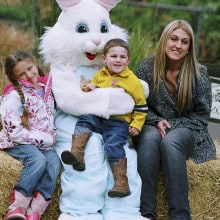 Bring your camera for a photo with the Easter Bunny. © David Mast
