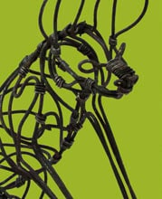 African Snare Wire Art